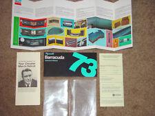 1973 Plymouth Barracuda Factory Original Owners Manual Set W/ Blank Warranty Id