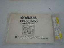 EF1880/260 YAMAHA OWNERS/SERVICE MANUAL LIT-11626-00-02