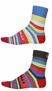 Lot 4 pairs castelli striscia  cycling socks size xxl 44-47