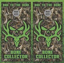 "Deer Hunting Bone Collector Cornhole Wrap Decals Bag Toss 3M Vinyl 24x48"""