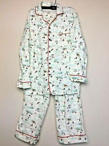 Hearth & Hand with Magnolia Skier Pajama Set Men's Size XL White