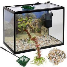 Acquario In Vetro Con Accessori e Pompa Aria Filtro 18 Litri 36 x 27 x 22 cm