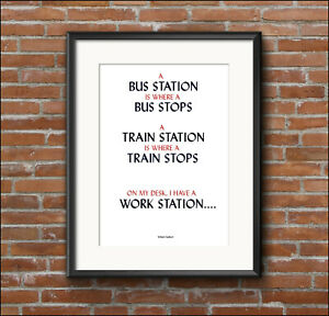 Home decor, humour, quotation, OFFICE, inspirational, art print poster, A4, A3