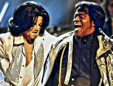 Michael Jackson and James Brown canvas print wall  hanging, Size50x60 cm