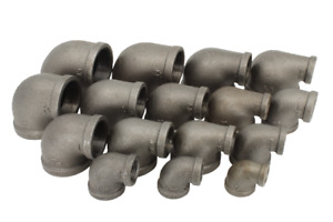 Black Malleable Iron Reducing Elbow Pipe Fitting (BSP)