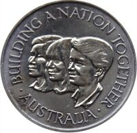 1988 Medal - 0.925 silver. Australia. Bicentenary. Building a nation together.