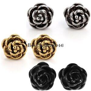 0509ESS Post Earrings Studs RETRO ROSES