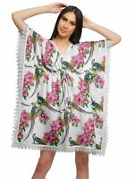 Moomaya Cutwork Lace Beach Kaftan For Women Printed Bikini Caftan-Z2J