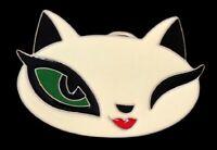 PUSSY CAT KITTY KITTEN FELINE BELT BUCKLE BOUCLE DE CEINTURE