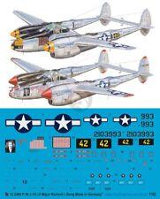 Peddinghaus 1/32 P-38J-15-LO Lightning Markings Richard Bong Pacific WWII 2468