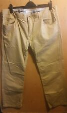US POLO ASSN Mens Cream Large Chino Jeans Trousers Size 40
