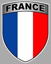 FLAG STICKER AUTOCOLLANT BLASON FRANCE DRAPEAU AUTO MOTO 9CM FA136