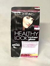 L'oreal Paris, Healthy Look Creme Gloss Color ~ 2 Black, 1 Application