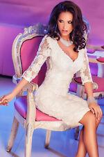 Vestito donna cerimonia pizzo abito elegante da sera vestitino party DS60754