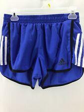 ADIDAS Marathon Women's Running Shorts Size Small Blue Striped  AA3