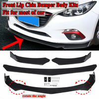 Universal Car Front Lower Bumper Lip Spoiler Chin Splitter Diffuser Sporty Style