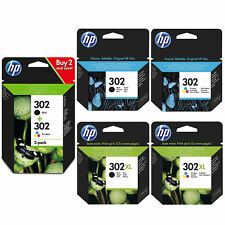 Original HP 302 / 302XL Black & Colour Ink Cartridges For DeskJet 3630 Printer
