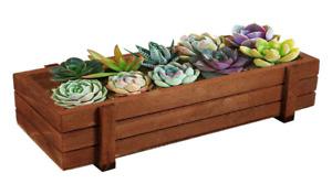 Wooden Herb Flower Succulent Planter Box  Rectangle Storage Box Pot Home Garden