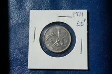 A-201 1971 Canada 25 Cents quarter Queen Elizabeth II