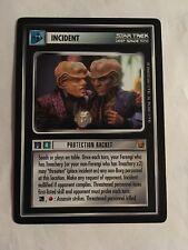 Star Trek CCG 1E Protection Racket Rare Card