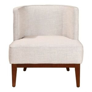 "27.5"" W Chester Club Chair Modern Contemporary Low Round Back Fabric Solid Wood"