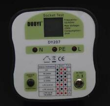 DY207 Electrical Socket Tester RCD UK Plug Safety Testing Leakage Test