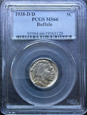 1938 D/D Buffalo Nickel  ~ *PCGS>MS66* ~ Boldly Detailed Original Coin