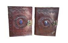 Leather Journal Diary Notebook Handmade Journal Blank Travel Notepad Lot of 2