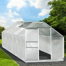 Aluminium Gewächshaus mit Stahlfundament 15,1m³ Treibhaus Glashaus 6mm Platten
