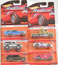 HOT WHEELS HERITAGE REDLINE COMPLETE SET OF 6 WAGON CHEVY LONG GONE BAD CARD