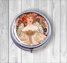 Art Nouveau Modern Woman By Mucha #8 Pill Box -sed5Z