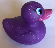 Purple With Silver Sparkles Bath Duck Mood Light - Bath time night light