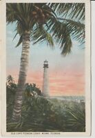 Old Cape Florida Light, Miami, Vintage Postcard -1925 *Free Shipping*