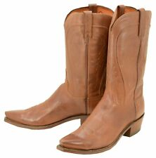 540 New Lucchese (1883) Tan Burnished Ranch Hand Cowboy Boots Men's 11.5 D