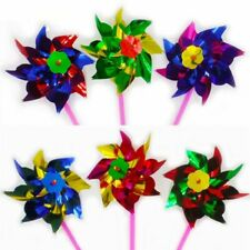 10pcs Packing Colorful Plastic Pinwheel Wind Spinner Windmill Garden Decoration