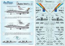 *RARE* AEROMASTER DECALS 1/48 F-14A/D Tomcat CAG VF-11 Red Rippers VF-51 (USN)