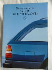Mercedes 250TD, 200T, 230TE, 300TE range brochure Jun 1986