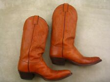 Justin Western Riding Rodeo Cowboy Boots Men's 9 D, style 1631, nice condition