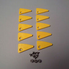 10pk Plastic Triangle Inserts with Screws for Many Leverless Tire Changers