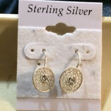 Style Pierced Earrings 925 Sterling Silver Filigree