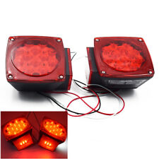 "US Boat LED Square Lights Trailer Under 80"" Tail Stop Brake No Wiring Low Price"