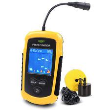 Portable 100M Sonar Fishfinder Fish Finder lowrance Alarm Sensor Transducer