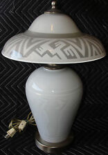 Extremely Rare Correia Art Glass Lamp with Etched Nudes - Signed Artist Proof