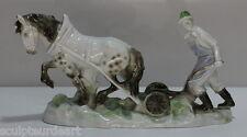 PORCELAINE PERSONNAGE-Bauer dans la travail de terrain - 70's 80's FARMER porcelain figurine