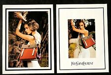 2011 UK Vogue Magazine Advert Art Pictures x 2  Yves Saint Laurent Arizona Muse