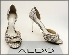 ALDO WOMEN'S HIGH HEEL CLASSIC DRESS OPEN TOE SHOES SIZE 9.5 AUST 41 EUR