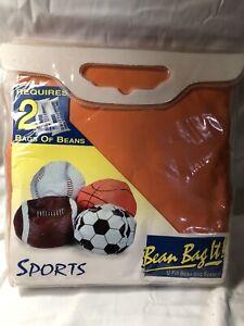 Bean Bag it Sports Kids jumbo Basketball U-fill it bean bag Chair Orange Black