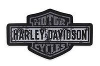 "Harley-Davidson Grey 4.25""W x 2.50""H Premium Bar & Shield Small Emblem EM343802"