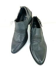 Dunnes Ankle Boots Size 5 Black Women Western Cowboy Shoeboot Slip on Low Heel