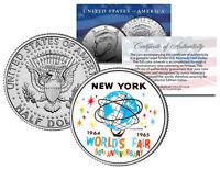 WORLD'S FAIR 1964 1965 NEW YORK * 50th Anniversary * 2014 JFK Half Dollar Coin